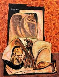 painting, original work by oswaldo guayasamín