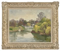 granville bisquines (+ a river view; 2 works) by norman thomas janes