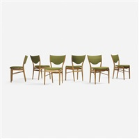 dining chairs, set of six by finn juhl