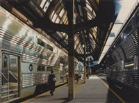 commuter trains, union station, chicago by don jacot