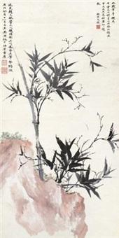 竹石图 by wu hufan