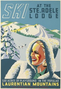 ski at the ste. adele lodge by roger couillard