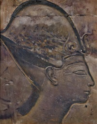 egyptian heads (pair) by joseph lindon smith