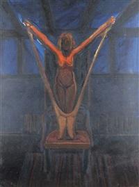 akt auf stuhl by norbert tadeusz
