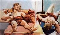 due giovani che riposano by emilio ambron