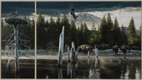 early morning breakfast (diptych) by rod frederick