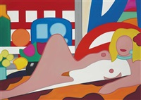 sunset nude with wesselmann still life by tom wesselmann