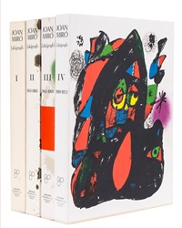 litografo i-iv (books with 32 works) by joan miró