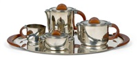 art deco-kaffee- und teeservice (set of 5) by f.w. quist