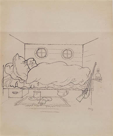 schlafender jäger by george grosz