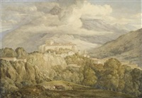 view near campitello in the italian alps by joseph michael gandy