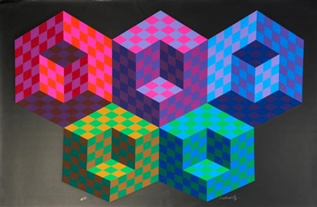 artwork by victor vasarely