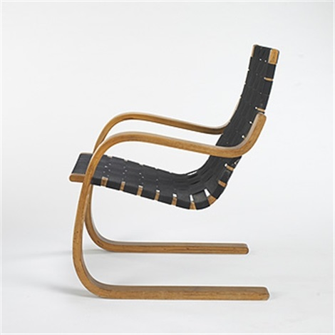 Cantilevered Chair, Model #406 By Alvar Aalto