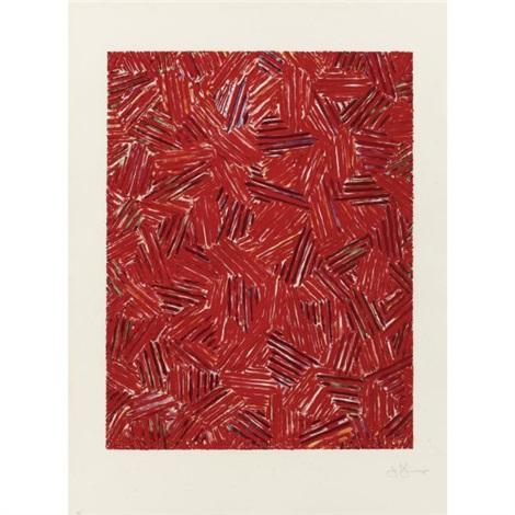 cicada from eight lithographs to benefit the foundation for contemporary performance arts inc by jasper johns