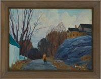 pair of landscapes by george a. renouard