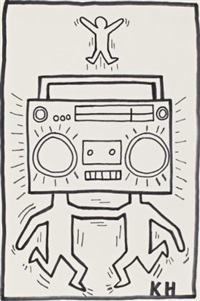radio men by keith haring