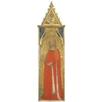 maria maddalena, con angeli e santo evangelista by bernardo daddi