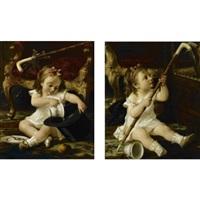 mischievous ones (pair) by luigi crosio