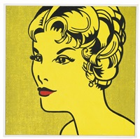 roy lichtenstein, head, yellow black, makeover #8 by richard pettibone