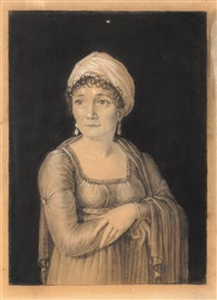 portrait en buste de joséphine de beauharnais by pierre paul rabillon