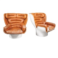 elda chairs (pair) by joe cesare colombo