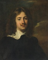 portrait of a gentleman, head and shoulders by nicolas regnier