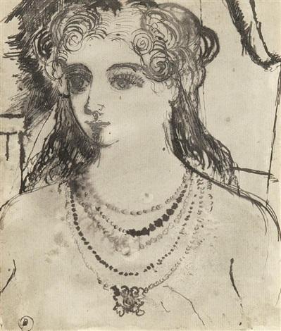 buste de femme au collier by paul delvaux