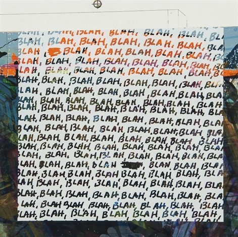 blah blah blah background noise by mel bochner