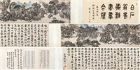 蜀道难山水长卷 手卷 纸本设色 by shen zhou