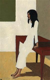 jeune femme en blanc by jean-claude gotting