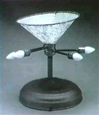 japanese flower lamp by r.m. fischer