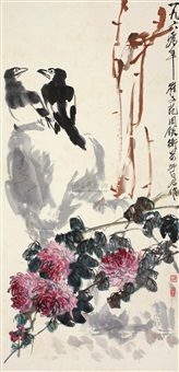 bird and flowers by cui zifan, lou shibai and zhou tieheng