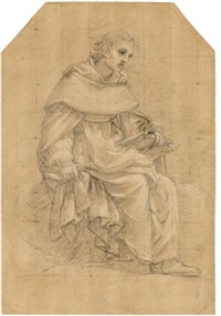 a seated dominican saint by cavaliere giovanni baglione