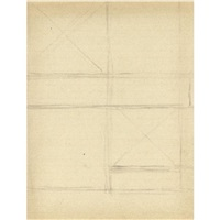 study for a composition (dbl-sided) by piet mondrian