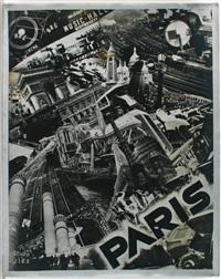 photomontage (+ detailaufnahme der montage (rückseite eines straßenschildes), smllr; 2 works) by jan auvigne
