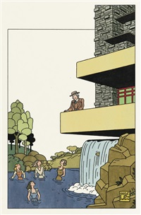 portrait de frank lloyd wright by joost swarte