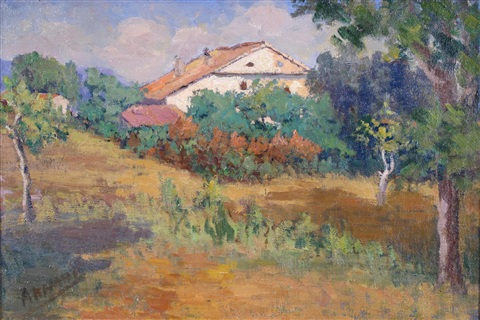 view of a villa in rural france by marcel arnaud