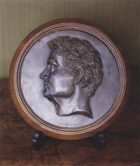 a portrait medallion of william charles wentworth by thomas woolner