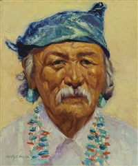 nosteen begay, navajo (tokochim, new mexico) by henry balink