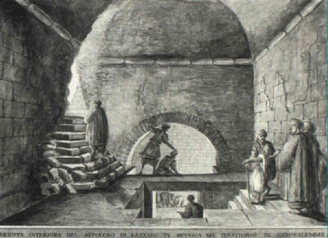The Sepulchre of Lazarus at Bethany, Jerusalem by Luigi