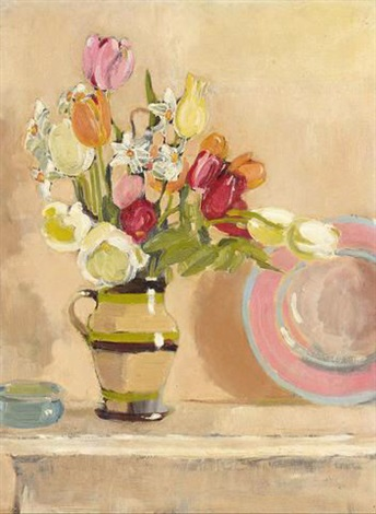 flowers in a jug by edward darcy lister