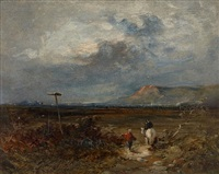 paysage au cavalier by david cox the elder