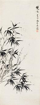 双清图 镜心 水墨纸本 by wu hufan