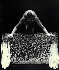 entwicklung eines werkes - fotoumwandlungen (portfolio of 22) by rolf schroeter and günther uecker