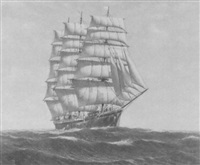 an american four masted barque by denzil smith