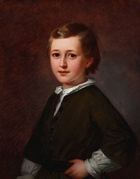 portrait of the danish ballet master and choreographer august bournonville's son edmond mozart august bournonville by edvard lehmann