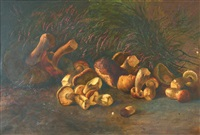 nature morte aux cèpes by józef rapacki