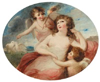 portrait of a lady attended by cherubs by lady diana beauclerk