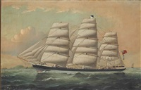 a portrait of the schooner patterdale by william howard yorke