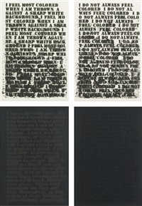 untitled: four etchings (set of 4) by glenn ligon
